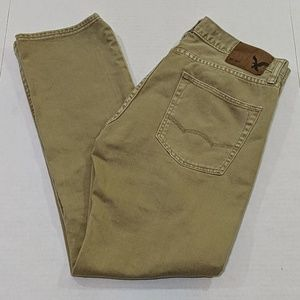 American Eagle Outfitters Slim Straight Tan Jeans